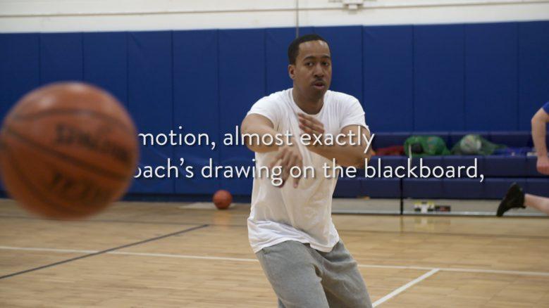 Pick-up basketball game